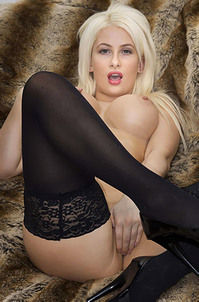 Ivy Summers Black Stockings